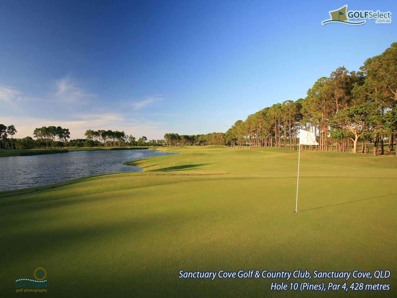 Sanctuary Cove Golf and Country Club - The Pines Hole 10 (The Pines), Par 4, 428 metres