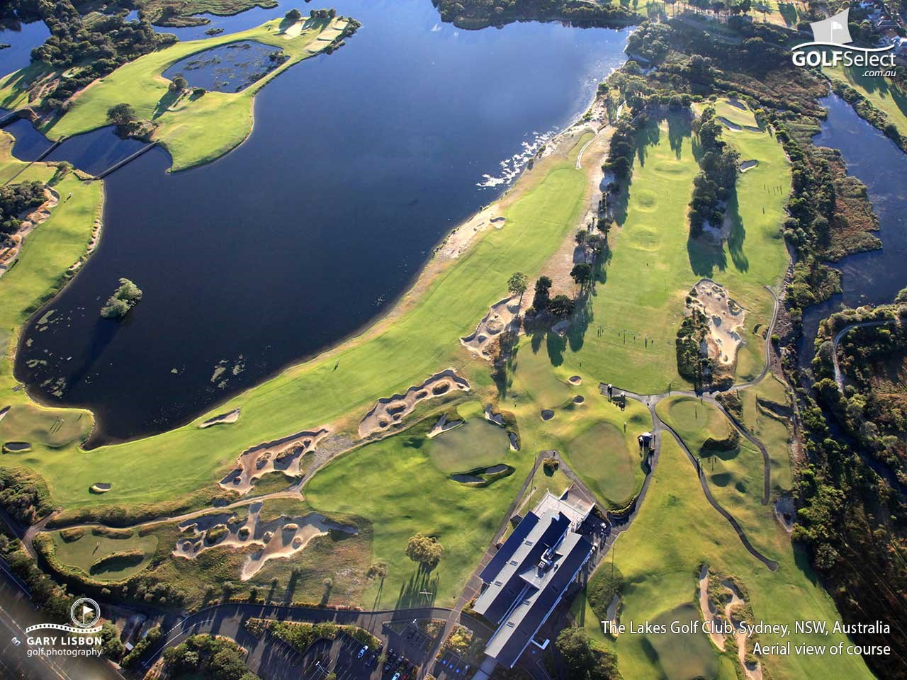 The Lakes Golf Club Aerial View of Course