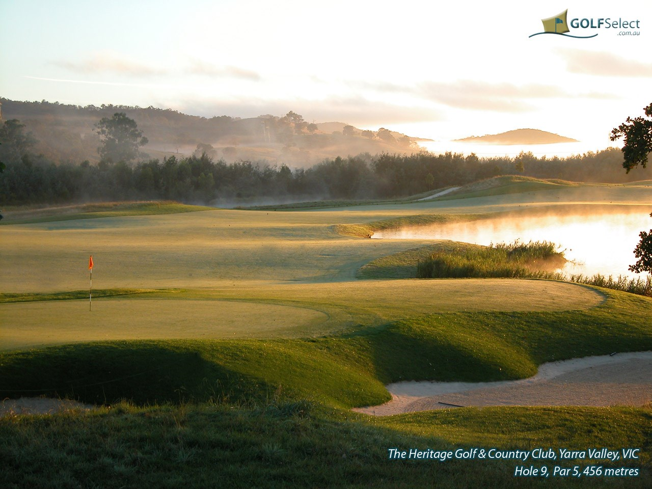 The Heritage Golf and Country Club (St.John Course) Hole 9, Par 5, 456 metres