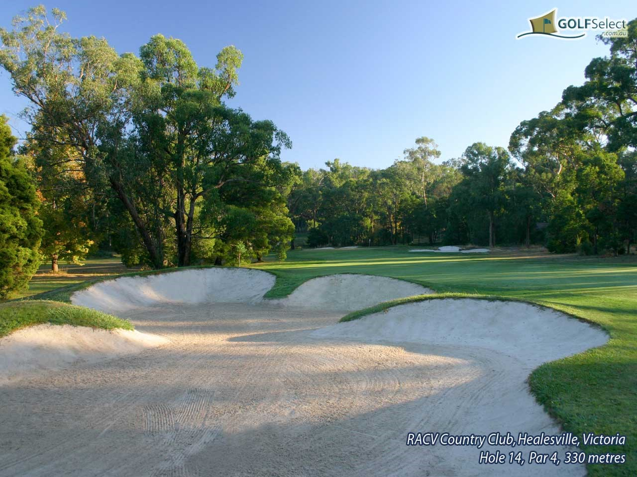 RACV Healesville Country Club Hole 14, Par 4, 330 metres