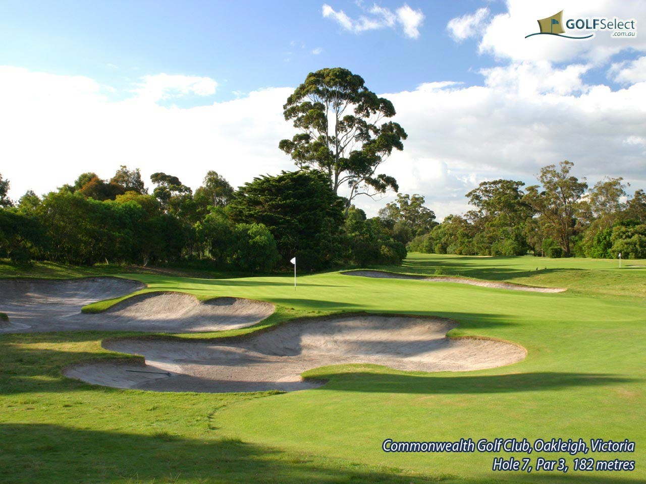 Commonwealth Golf Club Hole 7, Par 3, 182 metres