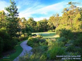 Avondale Golf Club Hole 15, Par 3, 148 metres