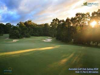 Avondale Golf Club Hole 17, Par 4, 303 metres