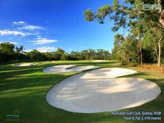 Avondale Golf Club Hole 9, Par 5, 470 metres