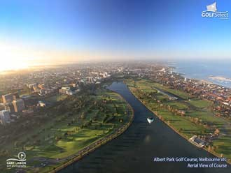 Albert Park Golf Club Aerial View of Course