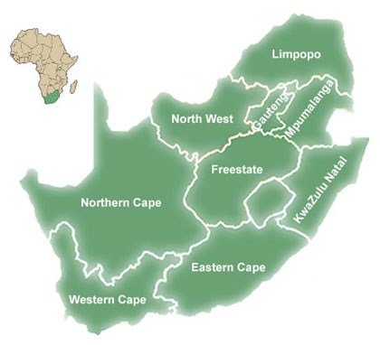 South Africa Location Map